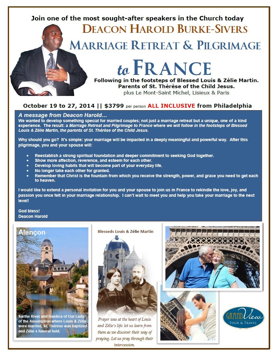 Deacon Married Couples Retreat & Pilgrimage FRANCE